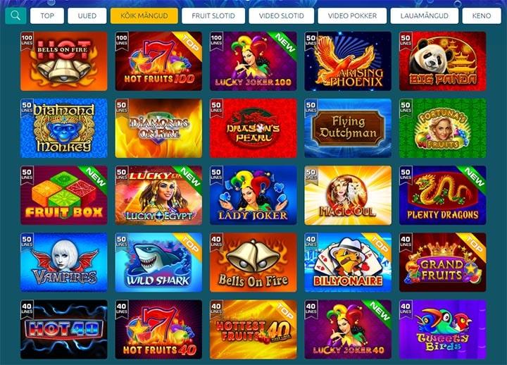 GrandX kasiino slotimängud