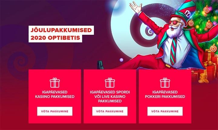 Jõulupakkumised 2020 Optibet'is