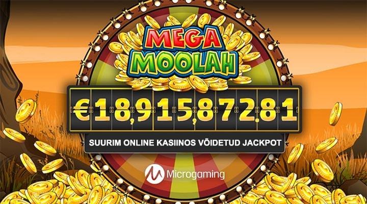 Suurim online kasiinos võidetud jackpot