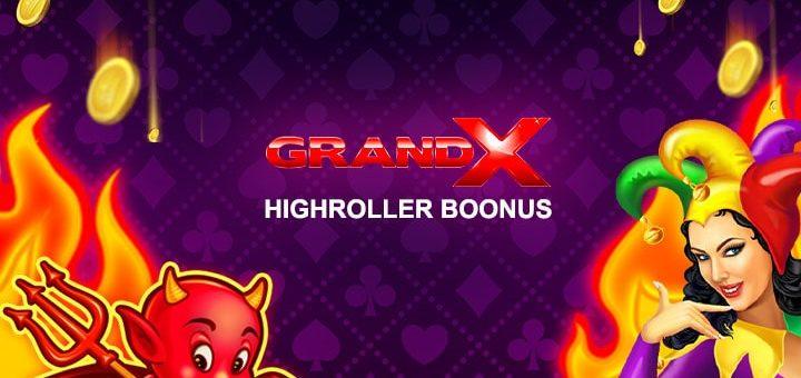GrandX kasiino Highroller boonus