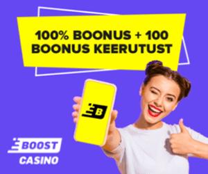 Boost Casino boonus - €1000 + 100 tasuta spinni