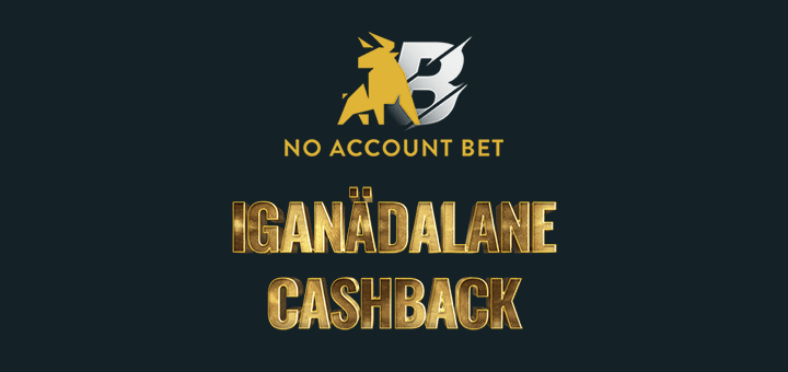 No Account Bet iganädalane slotimängude cashback