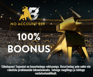 No Account Bet kasiino ja spordiboonus