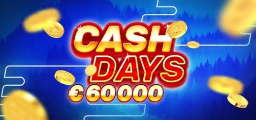 Boost Casino CashDays slotiturniir - auhinnafondis 60 000 eurot