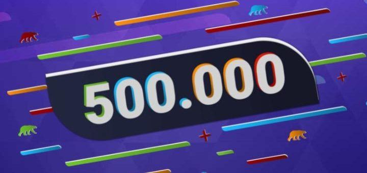 Coolbet'il täitub pool miljonit klienti - sel puhul jagamisel 500 000 tasuta spinni ja palju muid auhindu