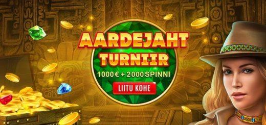 GrandX kasiino aardejahi turniir - auhinnafondis 2000 eurot + 2000 tasuta spinni