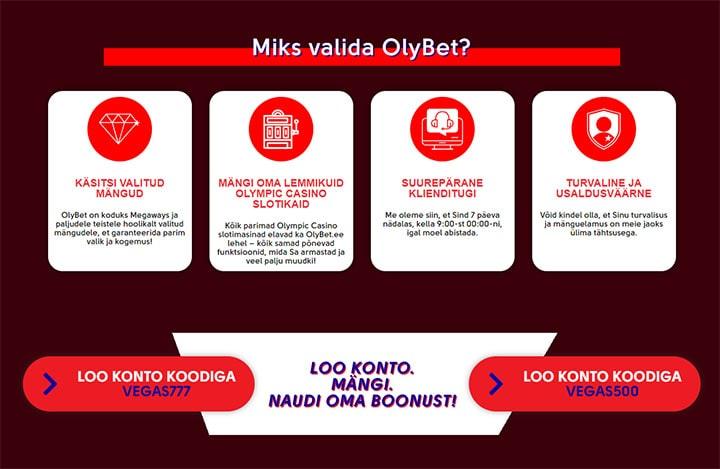Olybet - Uue kliendi Cashback boonus
