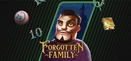 Forgotten Family minimängu slotiturniirid ja tasuta spinnid Unibet bingotoas
