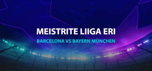 Barcelona vs Bayern München Meistrite Liiga superkoefitsient Coolbet'is
