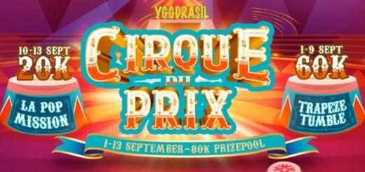 Boost Casino - Cirque Du Prix slotiturniirid