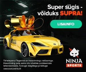 Mängi Ninja kasiinos ja võida Toyota Supra