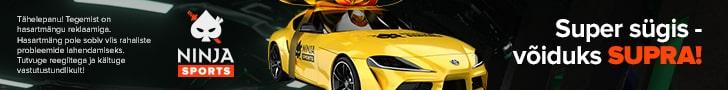 Ninja Casino loosib välja sõiduauto Toyota Supra
