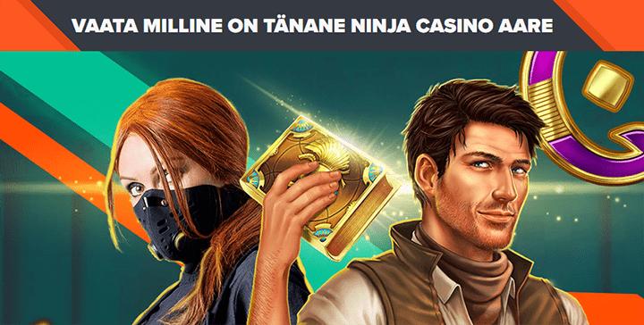Avasta tänane Ninja Casino aare ja tasuta spinnid on Sinu